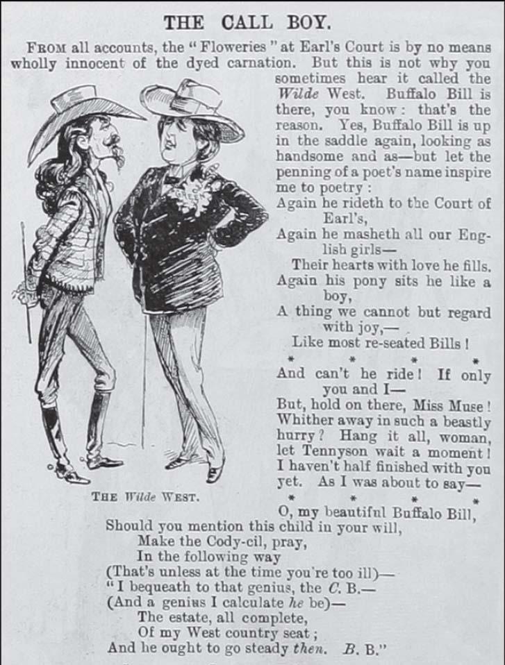 A sketch of Buffalo Bill and Oscar Wilde, May 1892.