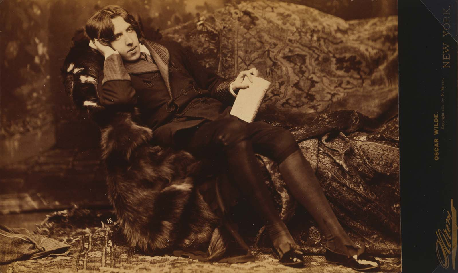 Oscar Wilde (1854-1900). Napoleon Sarony, photographer, ca. 1882. Library of Congress Prints and Photographs Division Washington, D.C. 20540 USA. LC-DIG-ppmsca-07756