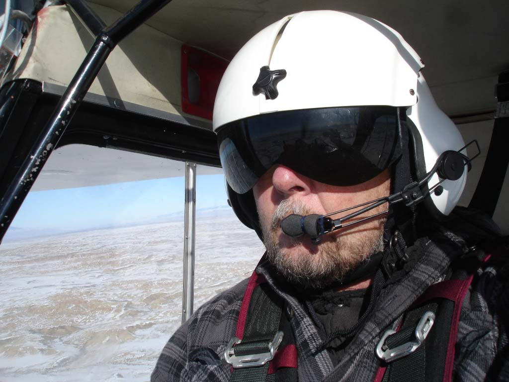 Research Assistant and pilot Richard Jones conducts flights to survey golden eagle nests twice each nesting season. Photo by Richard Jones.
