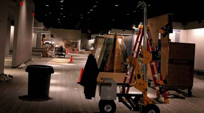 Cody Firearms Museum space during renovation.