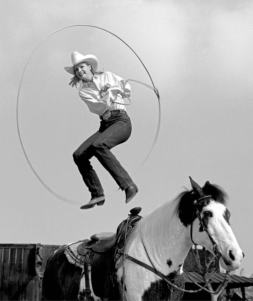 William Shepley photo. Janna Copley, Riata Ranch, Exeter, California 1995; silver gelatin print. P.602.023