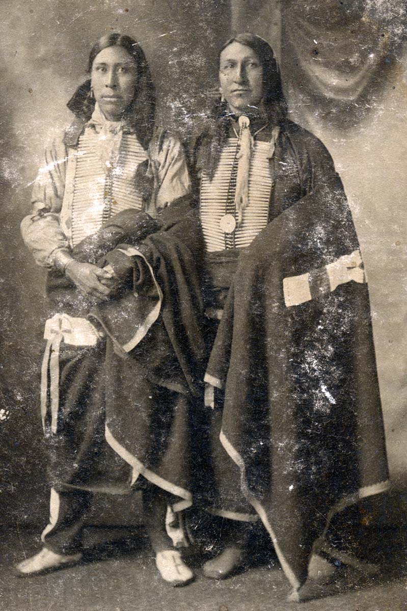 Samuel Lone Bear and Joseph Black Fox. MS 320 Paul Dyck Plains Indian Buffalo Culture Collection. P.320.470
