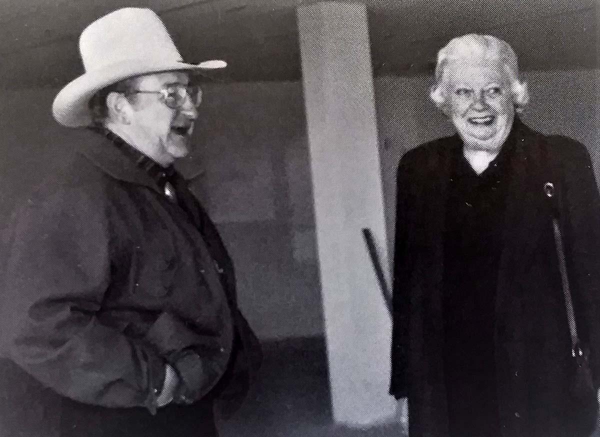Jim Minter and Peg Coe.