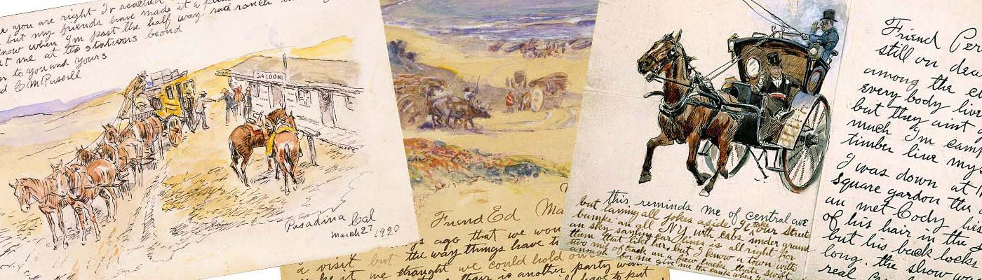 Charles M. Russell illustrated letter collage-featured