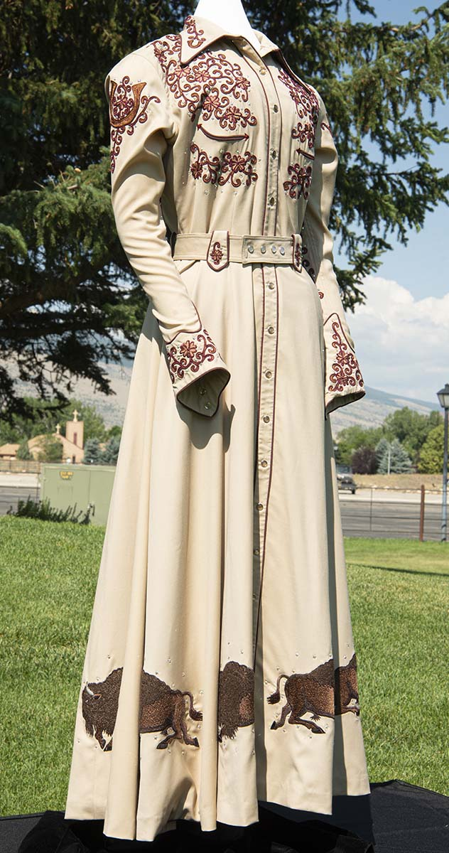 Patrons Ball Silent Auction: Western dress by Manuel