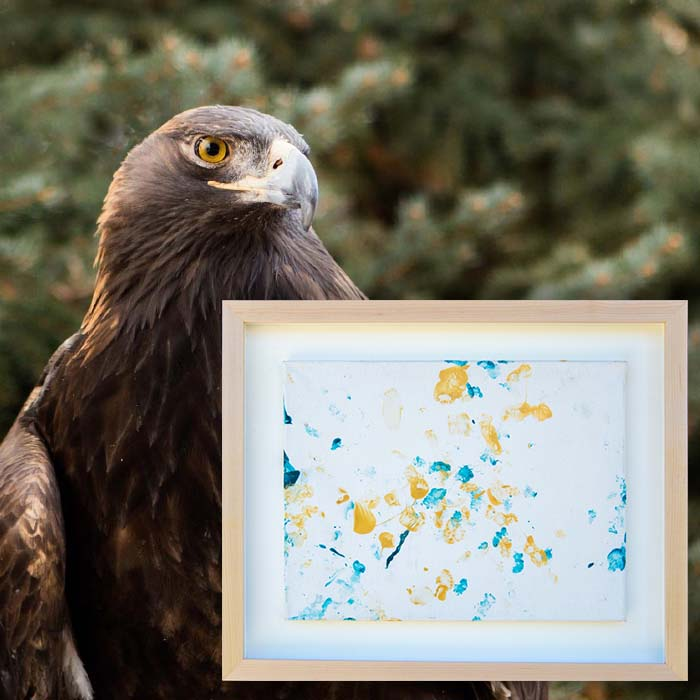 "Patrons Ball Silent Auction: ""Autumn on Sage"" painting by Kateri the golden eagle"