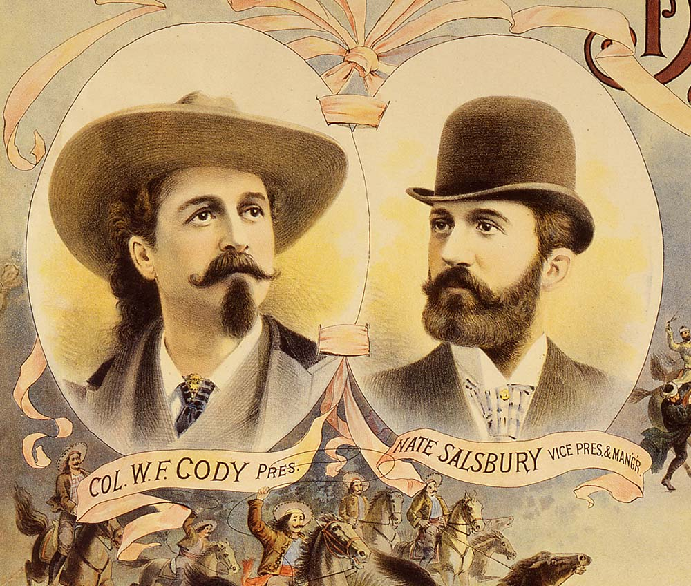 Cody and Salsbury, ca. 1895. Detail, Wild West poster. Gift of the Coe Foundation. 1.69.170 (detail)