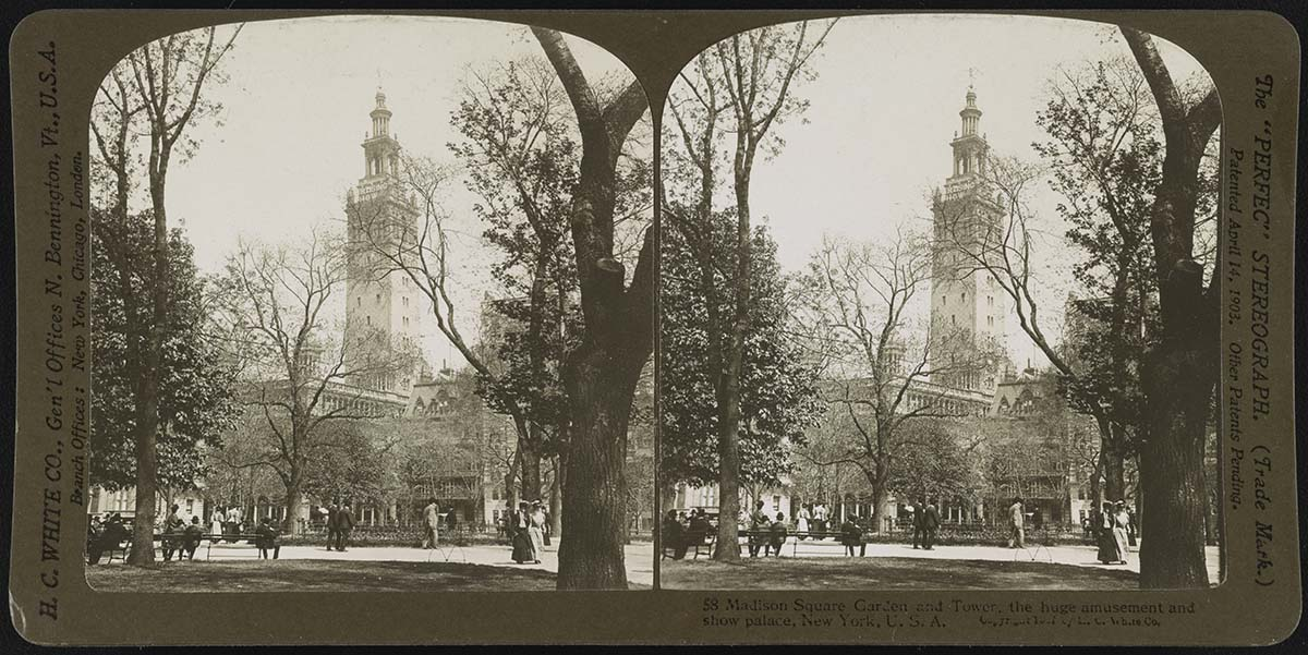 Madison Square Garden, 1907. Stereograph. Library of Congress Prints and Photographs Division, Washington, DC 20540 USA. LCDIG-stereo-1s07631