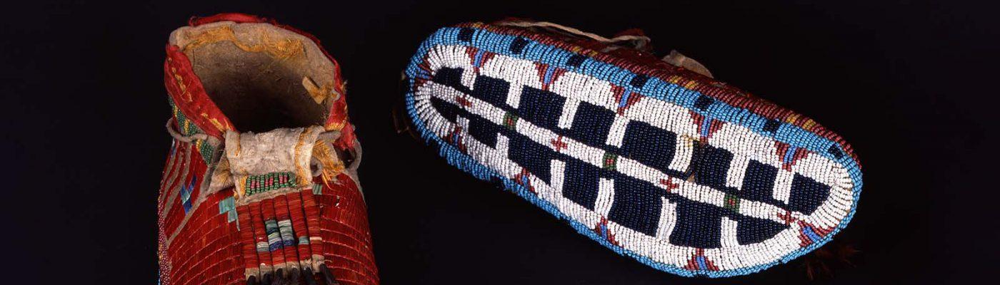 Comanche moccasins. NA.202.1183