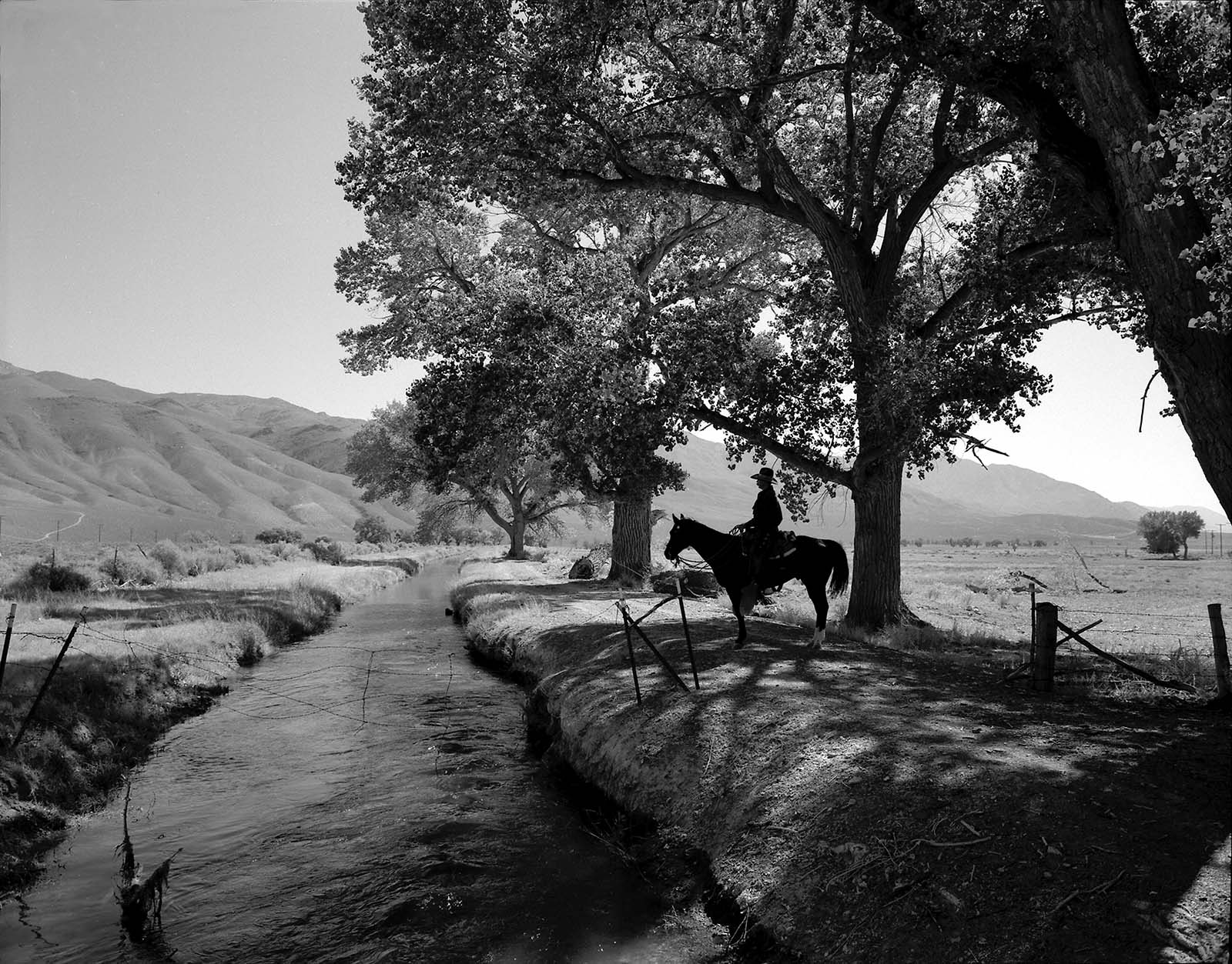 Rene Duykaerts, near Laws, Owens Valley, California 1995. Silver gelatin print by William Shepley. P.602.014