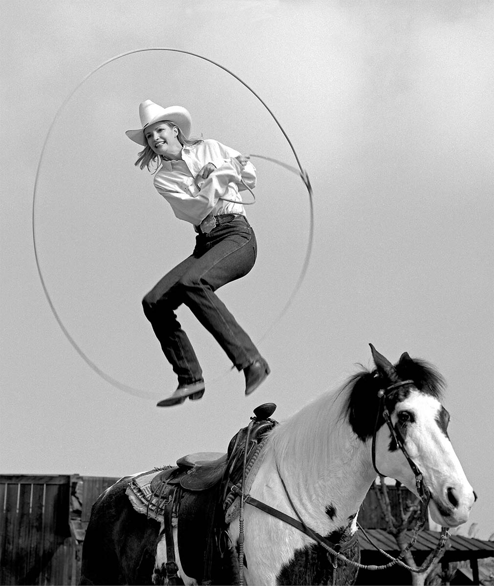 Janna Copley, Riata Ranch, Exeter, California 1995. Silver gelatin print by William Shepley. P.602.023