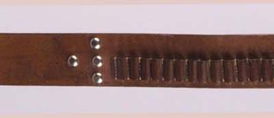 "Cartridge belt, ca. 1900. Abercrombie & Fitch. Gift of Irving H. ""Larry"" Larom. 1.69.735AB"