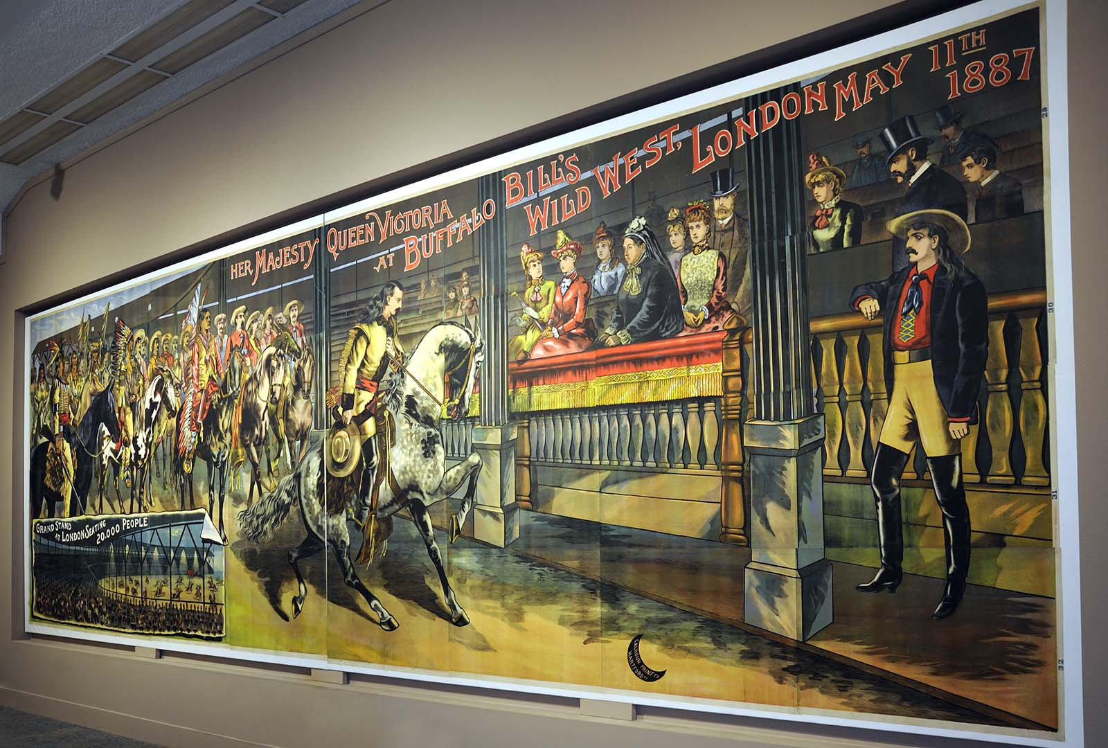 Queen Victoria at the Wild West poster, Buffalo Bill Museum, 2012.