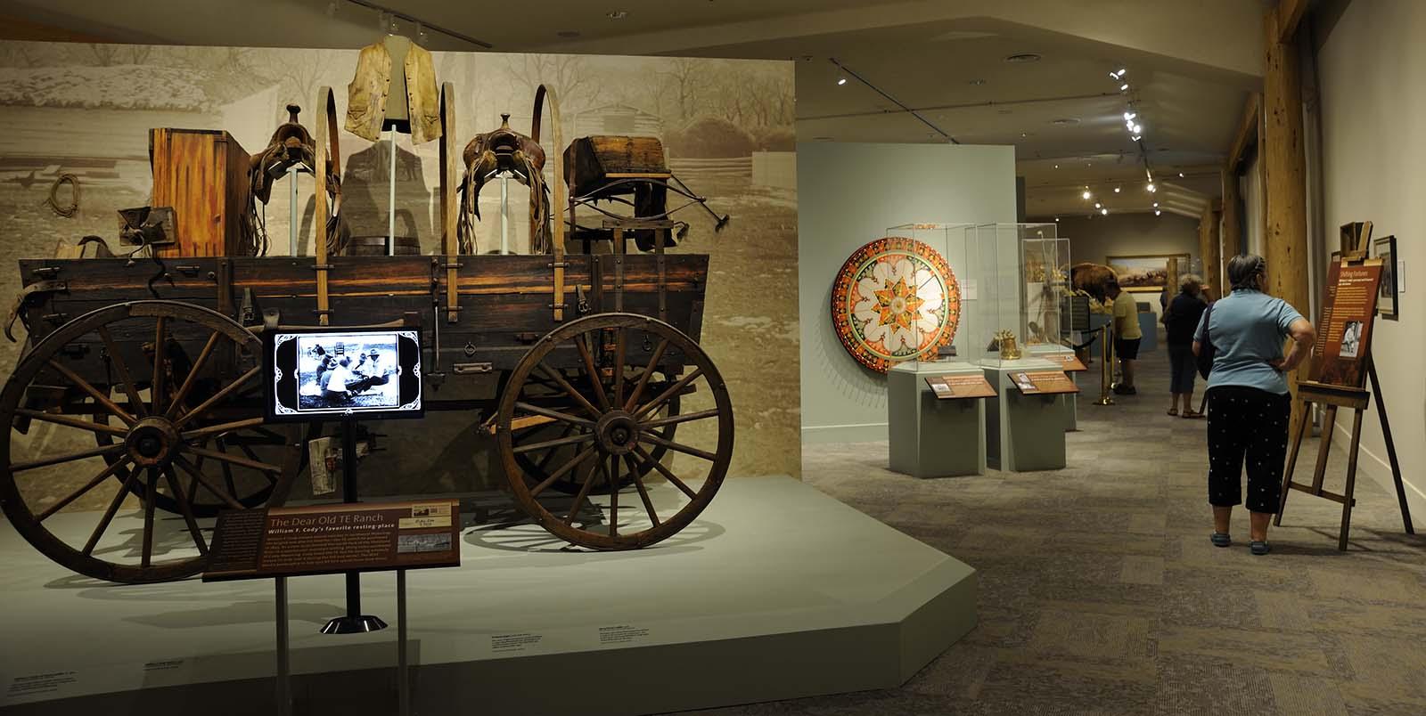 TE Ranch wagon exhibit, Buffalo Bill Museum, 2012.