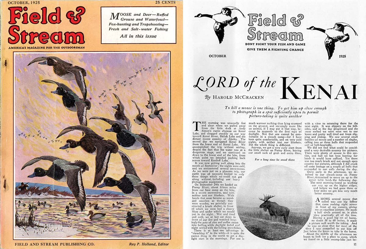 """""""Field and Stream"""" article Lord of the Kenai, October 1925."""