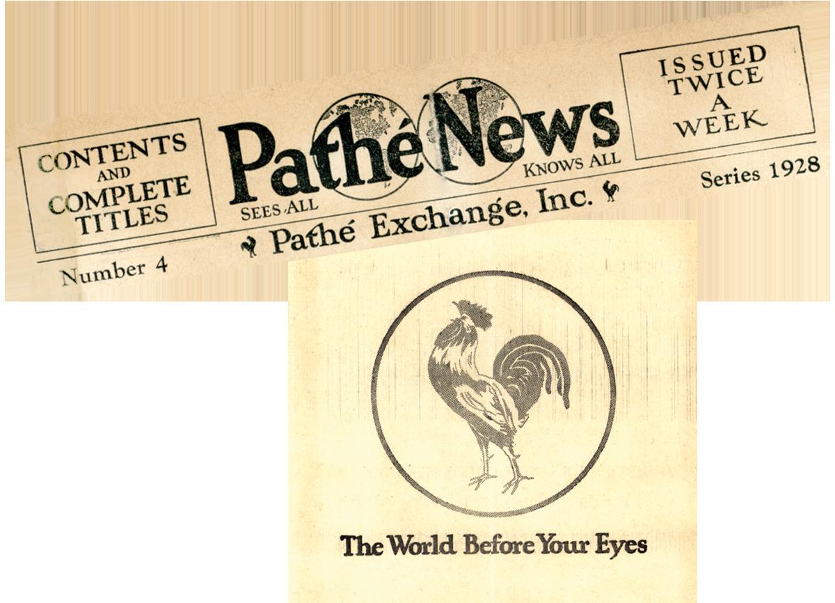 Pathe News letterhead and logo. MS 305 Harold McCracken Photograph Collection, McCracken Research Library. MS305.03.027 & 027c