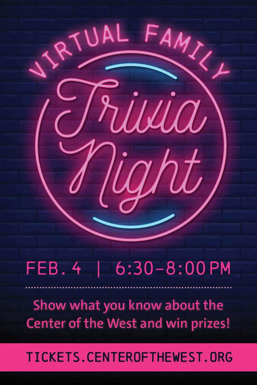 Virtual Family Trivia Night, 2021