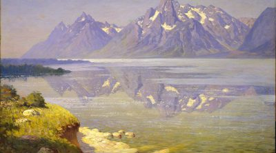 "William R. Leigh (). ""The Three Tetons,"" 1911. Oil on canvas. Gift of Michael Coleman (by exchange). 20.85"