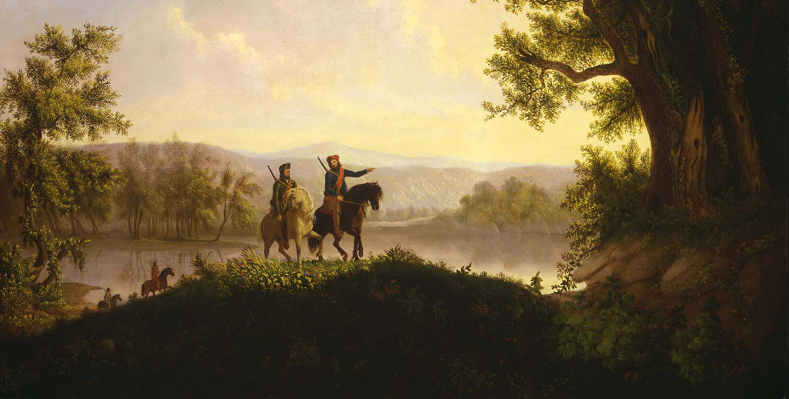 """Thomas Mickell Burnham (1818-1866). """"The Lewis and Clark Expedition,"""" ca. 1850. Oil on canvas, 36.125 x 48.5 inches. Museum purchase. 21.78 (detail)"""
