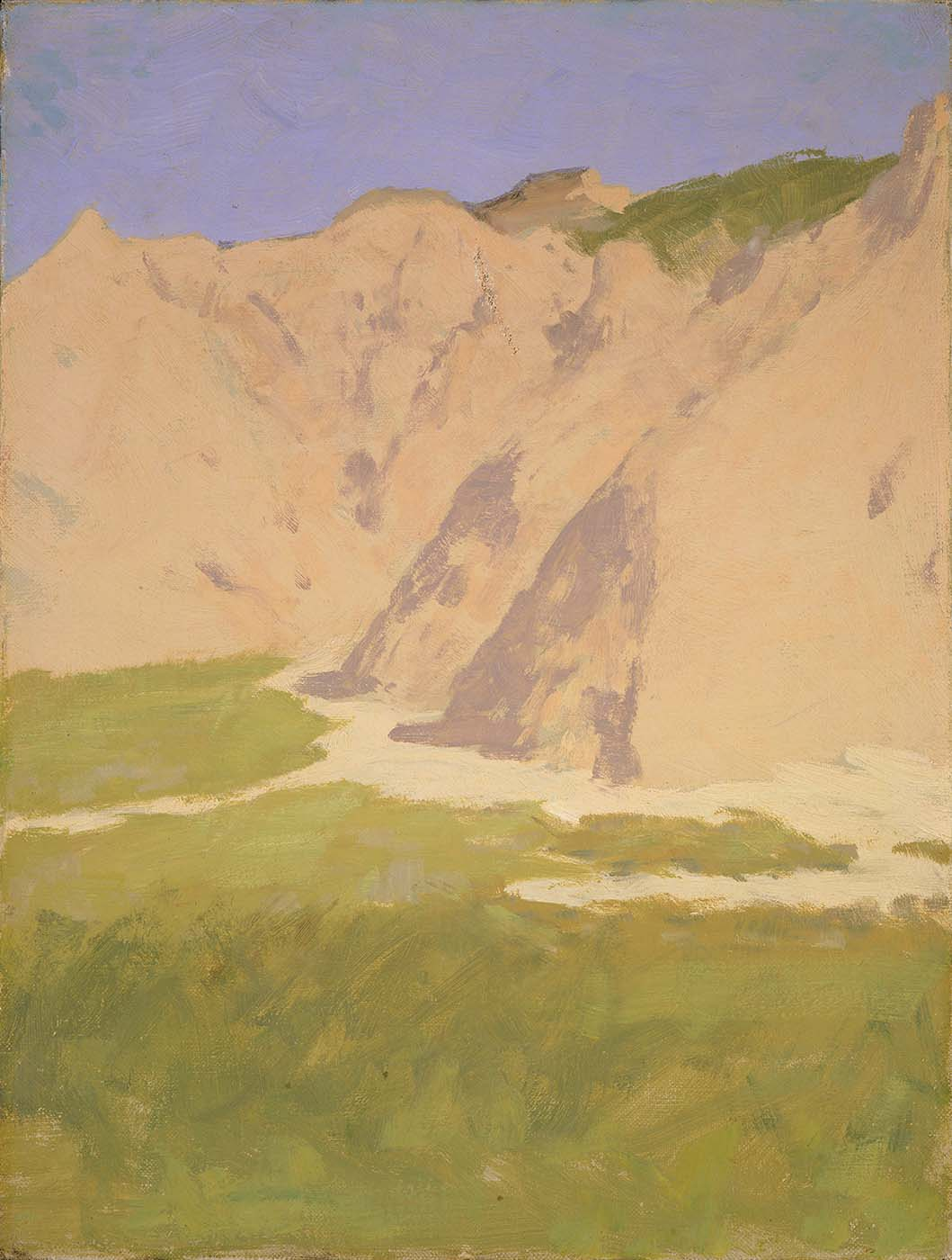 Frederic Remington (1861-1909). Untitled (sketch of barren mountains). Gift of The Coe Foundation. 17.67