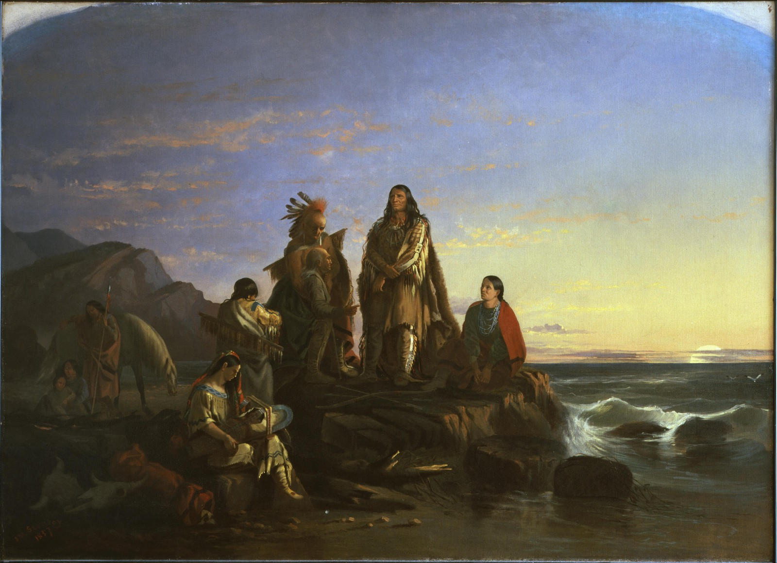 """John Mix Stanley (1814 - 1872). """"The Last of Their Race,"""" 1857. Oil on canvas. Museum purchase. 5.75"""
