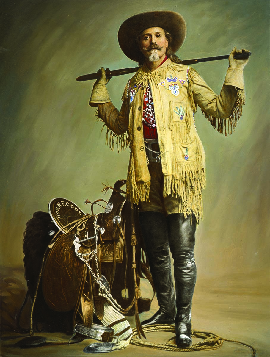 """William F. """"Buffalo Bill"""" Cody, ca. 1900. Hand colored by the western artist Adolf Spohr, 1958. Gift of Richard I. Frost. P.69.1483"""