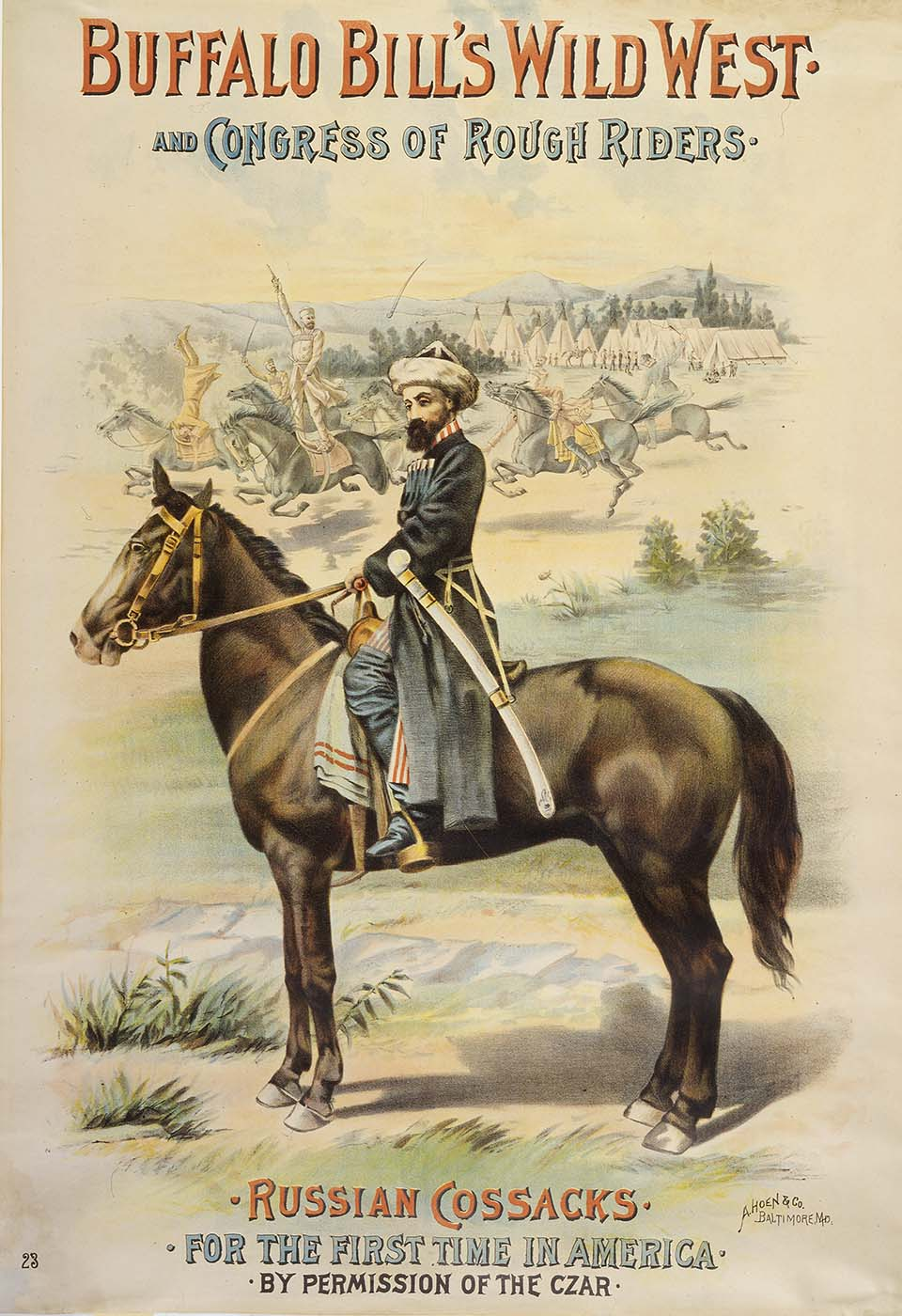 Russian Cossacks for the First Time in America by Permission of the Czar Wild West poster, 1893. Gift of the Coe Foundation. 1.69.123