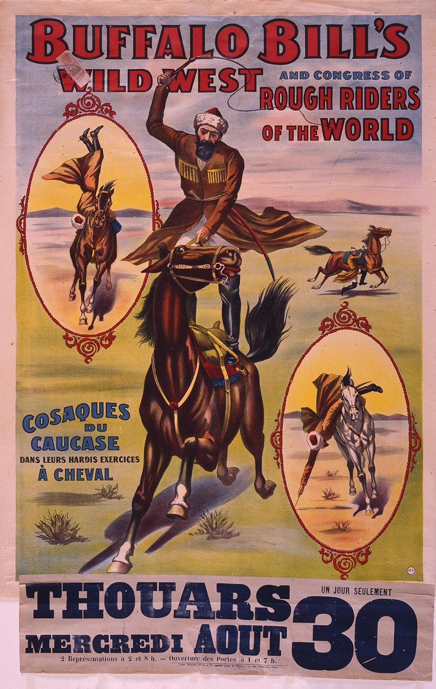 Cossacks on Horseback Wild West poster, France, 1905. 1.69.2175