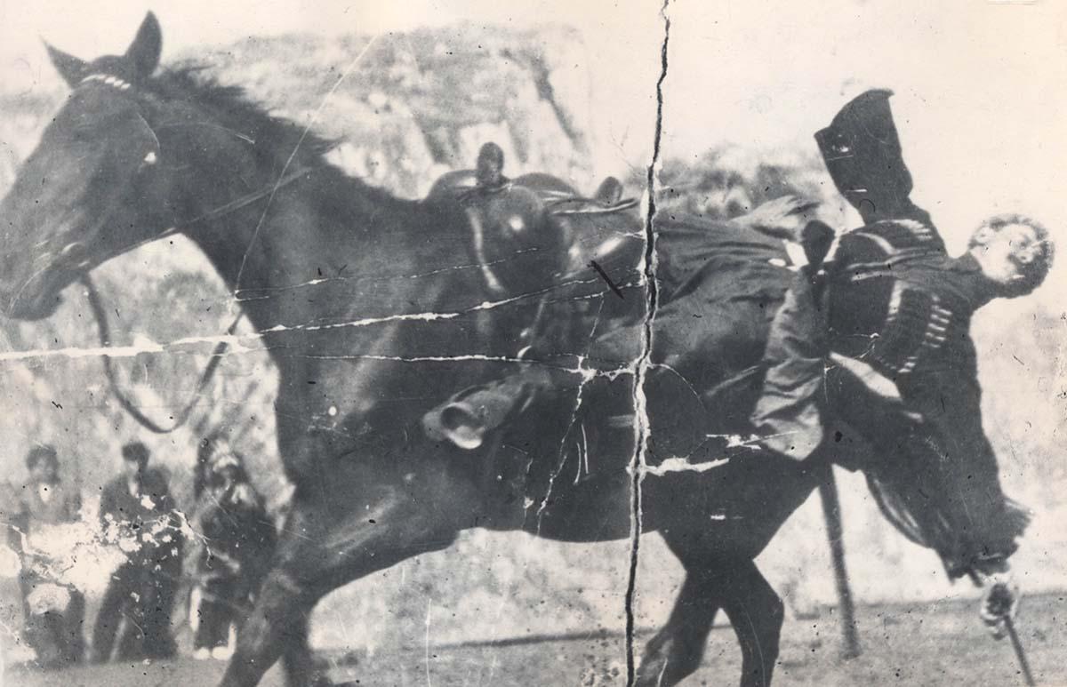 Trick rider Serapion Imnadze, ca. 1898. Collection of Irakli Makharadze.