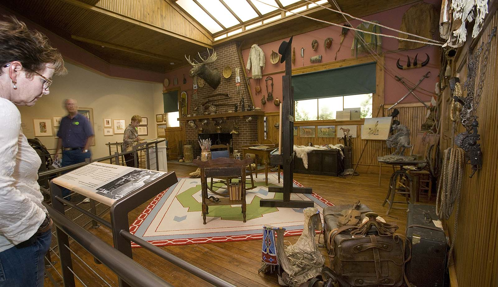 The popular Frederic Remington Studio was opened up, with one wall removed, to be more visible.