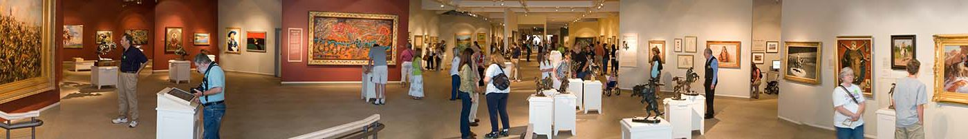 Panoramic view of Whitney Western Art Museum when it reopened on June 21, 2009.