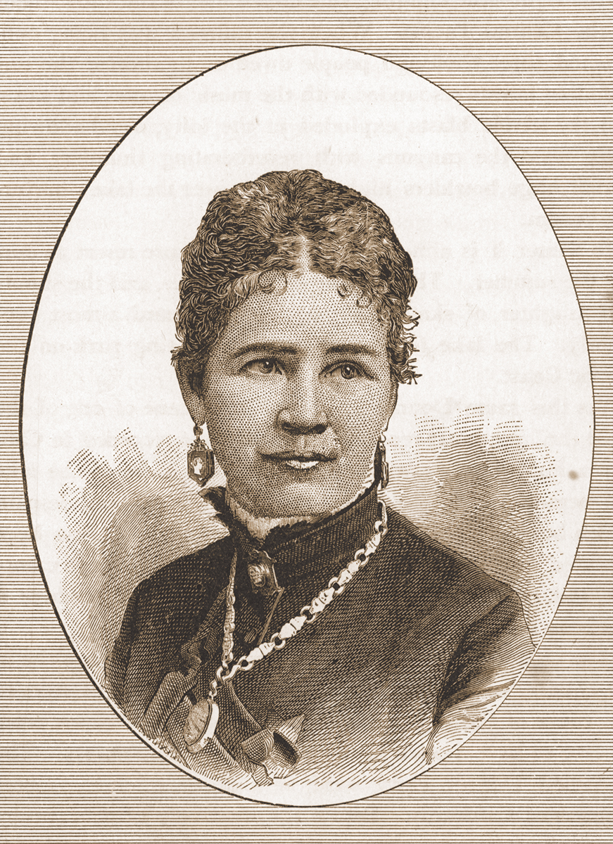 """Eliza Donner Houghton, from C.F. McGlashan's """"History of the Donner Party: A Tragedy of the Sierra,"""" 1880. McCracken Research Library Rare Books Collection."""