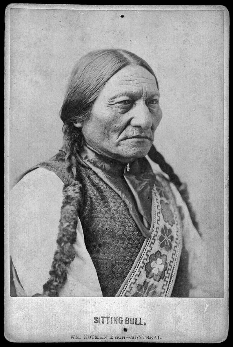 Sitting Bull, Wm. Notman & Son, Montreal, Canada, 1887. Gift of Mr. and Mrs. George Strobel. MS 6 William F. Cody Collection, McCracken Research Library. P.6.38