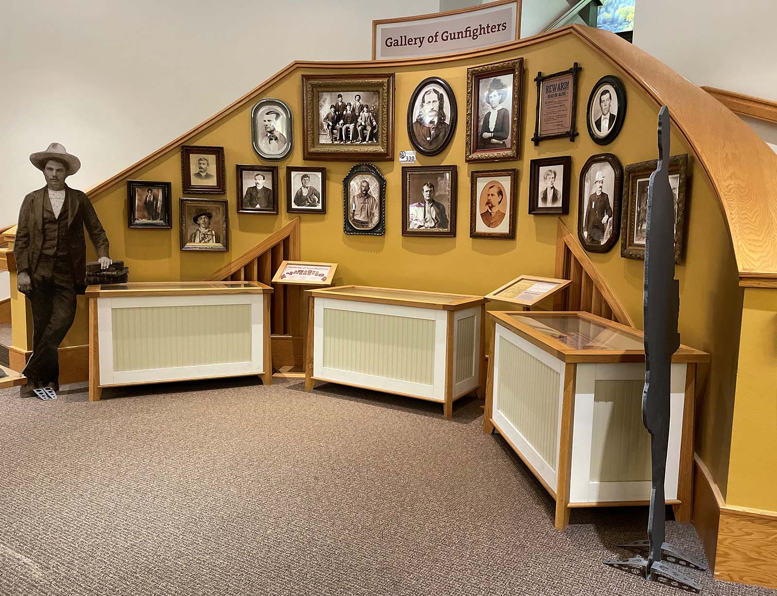 Today, the Shiebler Family Library Gallery includes the Gallery of Gunfighters, shown here, as well as exhibit space and information on the Western Writers of America.