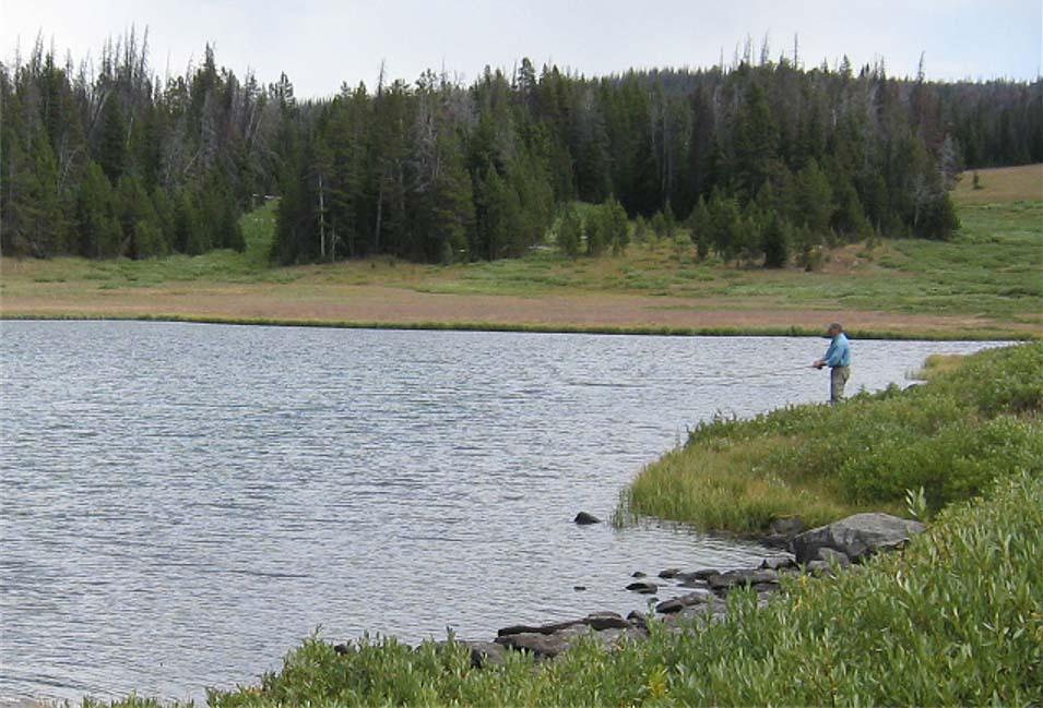 Fishing Mariposa Lake.