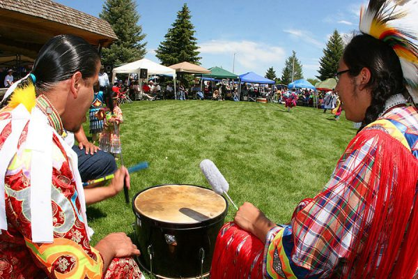 Drummers at the 2010 powwow